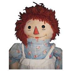 "19"" Georgene Raggedy Doll Free P&I US Buyers"