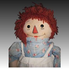"19"" Georgene Raggedy Doll Free P&I US Buyers"