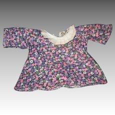 Unusual Print Dress for Raggedy Ann Doll Free P&I US Buyers !