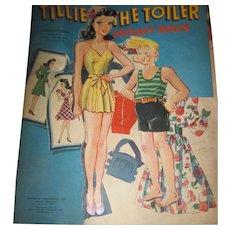 Very HTF TILLIE TOILER Vintage Paper dolls Free P&I US Buyers!
