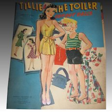 Very HTF TILLIE TOILER Vintage Paper dolls Free P&I US Buyers!