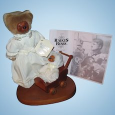1990 Raikes Mothers Day Teddy Bears ltd Free P&I US Buyers