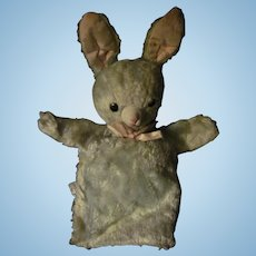 Vintage Baby Blue Gund Bunny rabbit Puppet Free P&I US Buyers