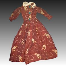 Wonderful Dress for China or bisque Dolls Free P*I US Buyers