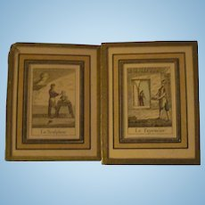 4 French Miniatue pictures for Doll or dol house Free P&I US buyers