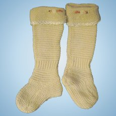 Wonderful Knit Socks for Bisque or China dolls Free P&I US Buyers