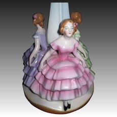 Beautiful Bavrian 3 Ladies Lamp base Free P&I US BUYERS