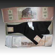 Old store stock Bear Brand Hoisery 2pr in Bear box Free P&I US Buyers