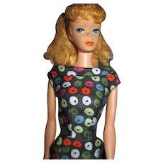 Vintage Pony Tail Barbie Doll w/ Apple dress & Booklet  Free P&I US Buyrs