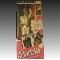 1986 Super Hair Barbie Doll MIB Free P&I US Buyers