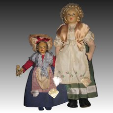 Two Manos Italian Cloth dolls free P&I US Buyers