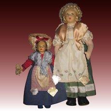 Two Manos Italian Cloth dolls free P&I US Buyers