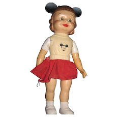 Mickey Mouse Club Doll w/skirt Free P&I US BUYERS