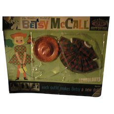 """Vintage Betsy McCall 8"""" doll outfit on card Free P&I US Buyers"""
