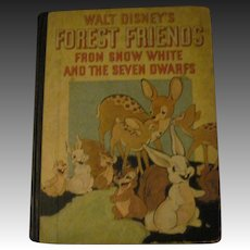 1938 Walt Disney Enterprise Forest Friends Free P&I US Buyers