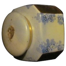Lovely Hand Painted Porcelain Ink Well Fee P&I US Buyers