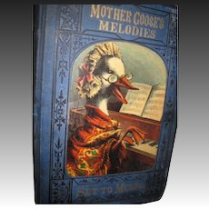 1878  Mother Goose Melodies Set to Music  Book