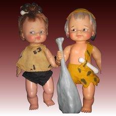 "Adorable 12"" Pebbles & Bam Bam dolls  Free P& I US Buyers"