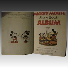 1930's Disney WDP Mickey Mouse Story  Book Album free P&I US Buyers