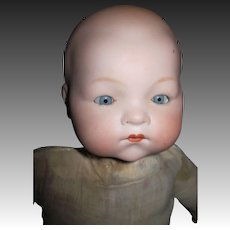 "15"" German Bisque Baby Doll Free P&I US Buyers"