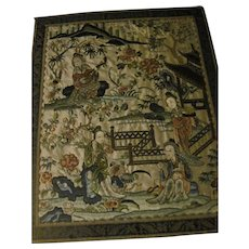 Beautiful  embroidered Asian Tray Free P&I US Buyers