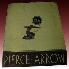 Rare 1937 Pierce Arrow Auto Brochure Free P&I Buyers