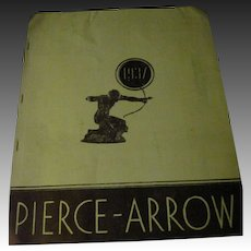 Rare 1937 Pierce Arrow Auto Brochure Free P&I Buyers