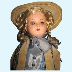 """14"""" German Gura Celluloid Doll , you will love the outfit! Free P&I US Buyers!"""