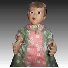 Unique doll by Ohio doll artist Pat Kolesar  1995 ltd ed Free P&I US Buyers