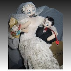 Rodan/Klumpe Doll Mario creation Bride & Groom Free P&I US Buyers
