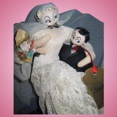 Rodan/Klumpe Doll Mario creation Bride & Groom Free P&I US Buyers