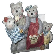 1997 Mother Brown's Homespun Bears from the Heart Free P&I US Buyers