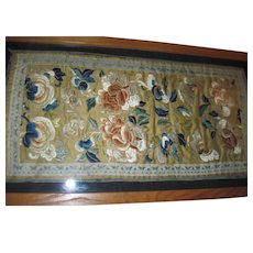 "1930's Beautiful large 21"" X 11""  Chinese Embroidery w/provenance Free P&I US Buyers"