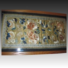 1930's Beautiful large Chinese Embroidery w/provenance Free P&I US Buyers