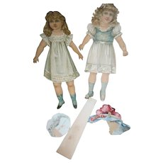 Two 1894 Raphael Tuck & Son Paper dolls w/hats Free P&I US Buyers