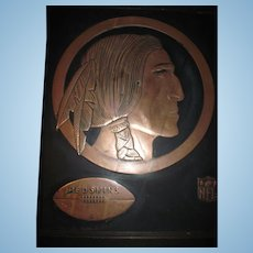 Large Old Copper Cleveland Indian Picture Free P&I US Buyers