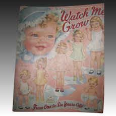 HTF Watch Me Grow Up Paper Dolls From one to six Free P&I US Buyers