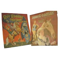 Roy Rogers & Dale Evans & Annie Oakley Paper Dolls Free P&I US Buyers