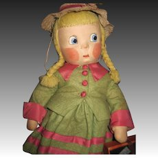 "1938 Adorable 15"" Madame Alexander cloth Susie Q Doll Free P&I US Buyers"