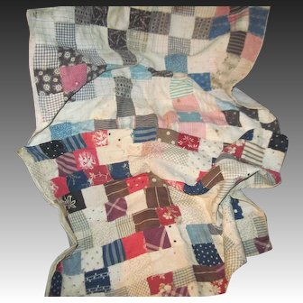 Two Wonderful Antique Doll Quilts Free P&I US Buyers