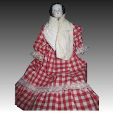 "Sweet 9.5"" Damaged China doll house doll Free P&I US Buyers"