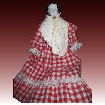 """Sweet 9.5"""" Damaged China doll house doll Free P&I US Buyers"""