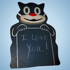 SOOO  Cute Vintage FELIX CAT Chalk Board Free P&I US Buyers