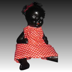 Adorable Black bisque baby doll Free P&I US Buyers