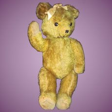 """Large 21"""" Golden Mohair Teddy Bear  Free P&I US Buyers"""
