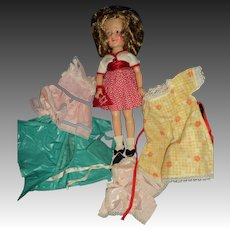 "Ideal 12"" ST Shirley Temple w/nice outfits Free P&I US Buyers!"