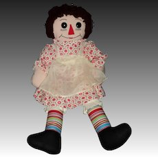 "Wonderful 20"" Hand made Raggedy Ann  Doll Free P&I US Buyers"