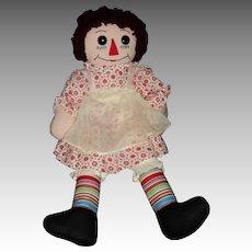 "Wonderful 20"" Hand made Raggedy Ann  Doll Free P&I US Buyers"