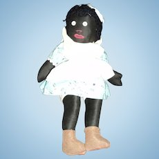 """Adorable old 14"""" Cloth Blck Doll Free P&I US Buyers"""