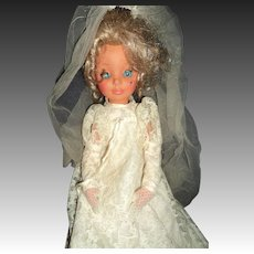 "17"" Furga Platinum Blonde Alta Moda Bride Doll Free P& I US Buyers"